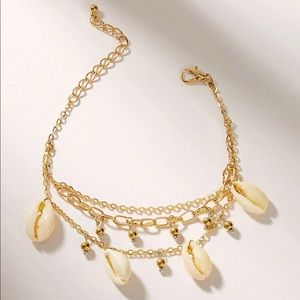 Triple Layer Cowrie Shell Anklet or Bracelet